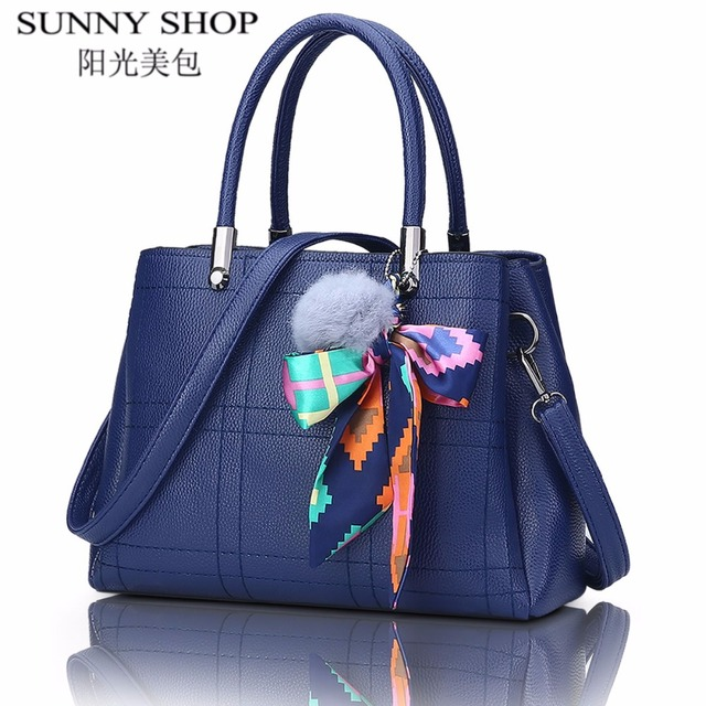 SUNNY SHOP 2017 vintage leather bags handbags women famous brands shoulder bag ladies hand bags solid women messenger bags sac