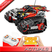 13023 Compatible Legoed Technic The RC Track car Remote-control Race Car Set Building Blocks Bricks Toys for Children 42065(China)