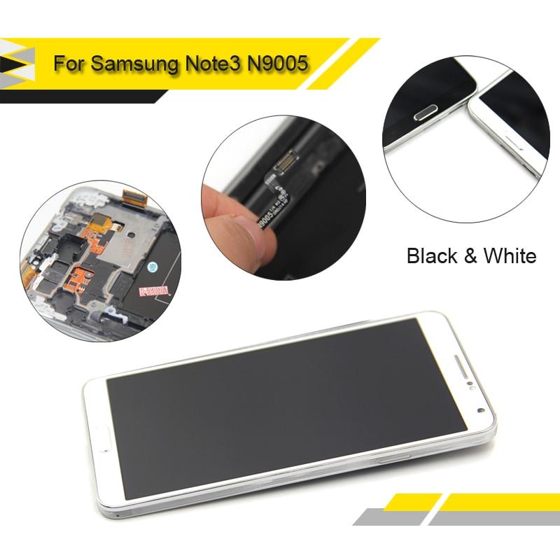imágenes para Alibaba de China Reemplazo Compatible para Samsung Galaxy Note N9005 3 LCD display + touch screen digitalizador asamblea con marco