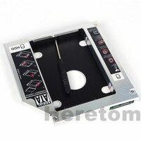 Heretom Universal Aluminum SATA to SATA 12.7mm 2nd HDD SSD Optibay Caddy For Laptop DVD CD-ROM Optical Bay