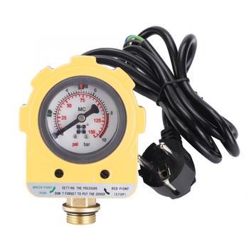 Pressure Control Switch 10 Bar Pressure Controller Unit Electronic Switch for Water Pump EU plug 220V цена 2017