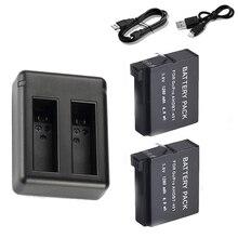 Топ предложения usb Зарядное устройство + 2×1600 мАч Полный Decoded ahdbt-401 Батарея для GoPro Hero 4 Go Pro Hero 4