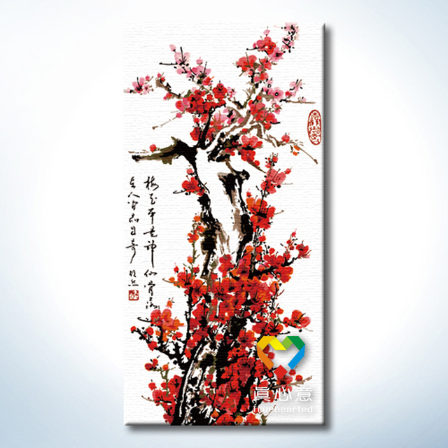 - cherry colored drawing diy digital oil painting background painting - 40 80