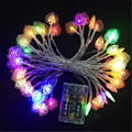 8M 50 LED small love heart LED Lamp Battery Christmas String Fairy Lights for Wedding Christmas party curtain decoration