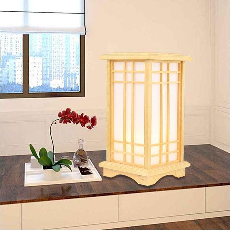 Online Shop Marmenkina Japanischen Stil Tischlampe Innen Lampe Wohnzimmer Boden Holz Schlafzimmer Den Papier Schreibtisch AC110 240V