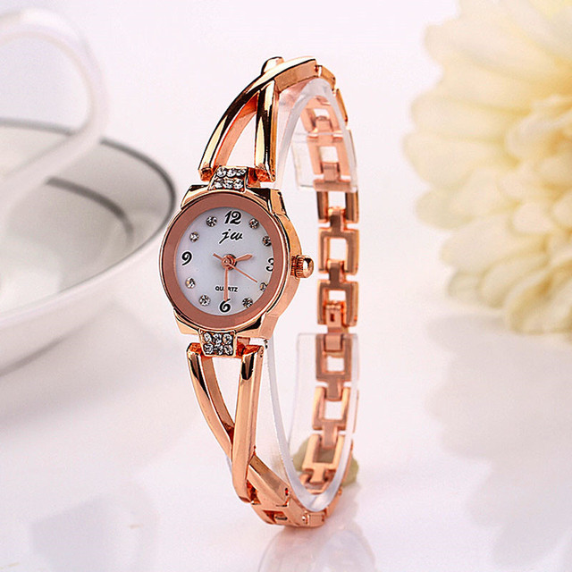 Dress Fashion Casual Women Watches Clock Ladies Stainless Steel Bracelet Watch Q