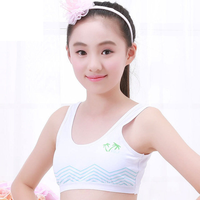 880f4a8fba teenage girl cotton bra puberty junior high school Student bra vest style  no steel ring underwear 70A 75A 80A 80A 85A 90A