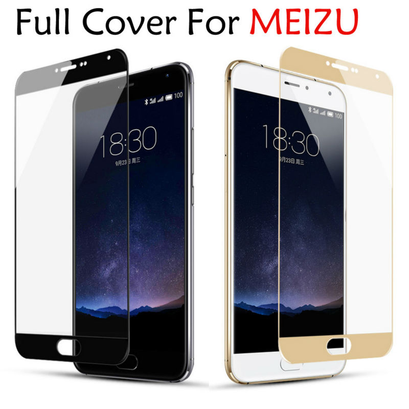 GerTong Color Full Cover Tempered Glass for MEIZU M3S Mini M5 Note MX6 Screen Protector for Meizu M5S M5C M3 M6 Note U10 Pro 6 7