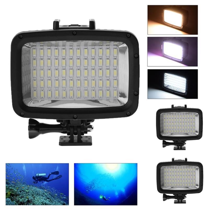 60 LED Video Light Lamp Photographic Lighting Lamp 1800LM Waterproof Diving Camera Photo ...