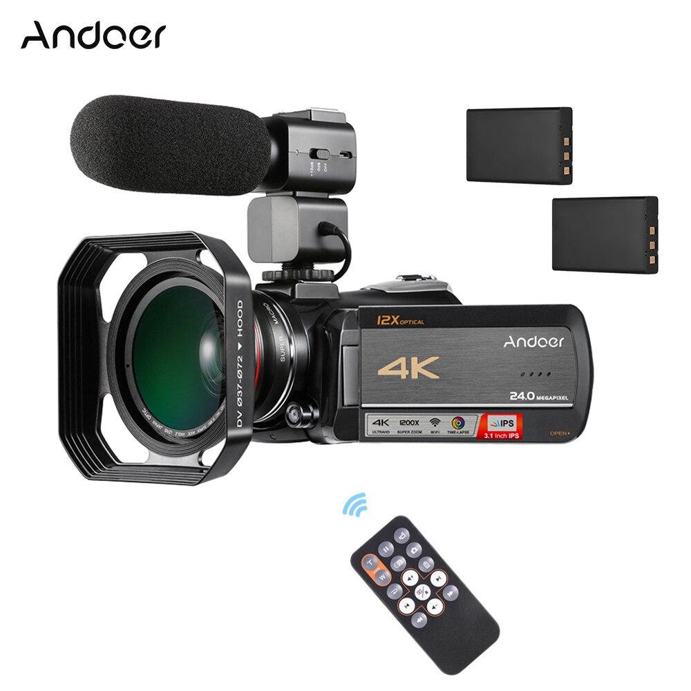 Andoer AC5 4K UHD 24MP Digital Video Camera Camcorder Recorder 0 39X Wide Angle Lens Lens