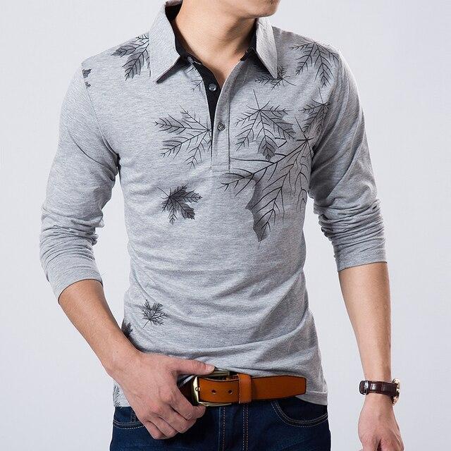 Hot Sale New 2017 High Quality 100% Cotton Men's Fashion Long-sleeve Polo Men Brand Polo Shirts Man hot-sale slim polo