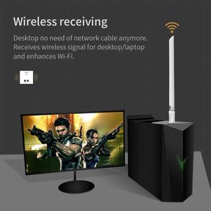 Image 4 - USB Wifi Adapter 650Mbps Wireless Receiver Dongle Ethernet Netzwerk Karte 6dBi Antenne für Windows XP/7/8 /8,1/1 Mac OS10.6 10.15