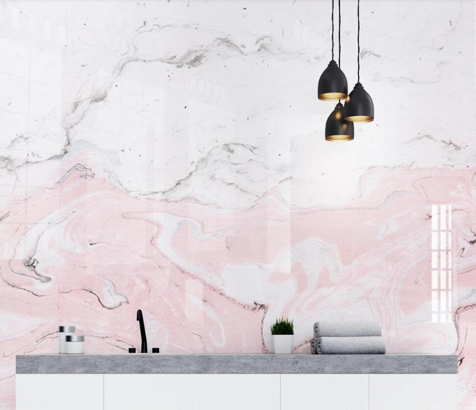 Pink Marble Background Wall 3D Mural Wallpaper