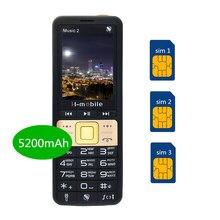Real 5200 mAh power bank сотовый телефон супер музыка громкий звук двойной динамик три SIM мобильный телефон роскошный телефон H-mobile iMusic 2