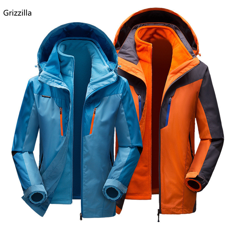 Grizzilla Men and Women Ski Jacket Winter Snowboarding Suit Men's Outdoor Warm Waterproof Windproof Breathable Skiing Jackets dropshipping 2015 rossignol winter snowboarding jacket ski snow jacket women waterproof breathable windproof skiing jackets