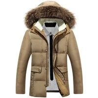 Подпушка куртка для Для мужчин Дизайн новая зимняя куртка-пуховик с Искусственный мех с капюшоном Мужская одежда повседневные куртки мужск...