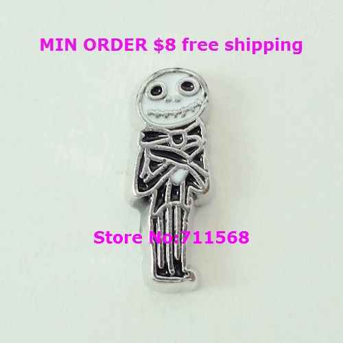 Jack Skeleton Drijvende Charms Nightmare Before Christmas Charm Hanger Voor Glas Drijvende Medaillon DIY Charms