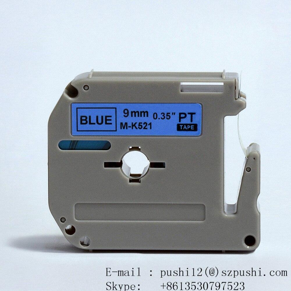 2pcs/lot Compatible for p touch M Series Label Tape Cartridge 9mm x 8m 3/8 x 26.2ft M-K521
