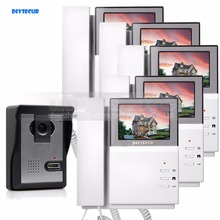 DIYSECUR 4.3inch Video Intercom Video Door Phone Doorbell 600TVLine Night Vision Outdoor Unit for Home / Office Security System