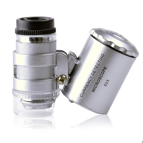 Brand New 60x Handheld Mini Pocket Microscope Loupe Jeweler Magnifier With LED Light  Christmas  Gift  6RSI