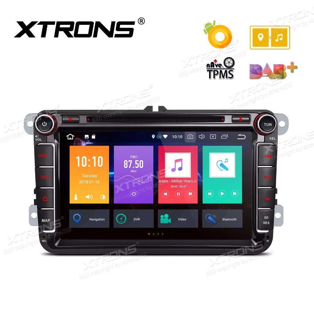 xtrons 2 din 8 android 8 0 octa core car dvd player radio. Black Bedroom Furniture Sets. Home Design Ideas