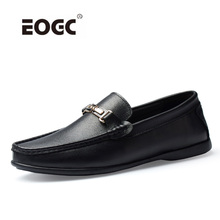 High Quality Natural Leather Men Loafers Moccasins Breathable Casual Shoes Plus Size Comfortable Driving