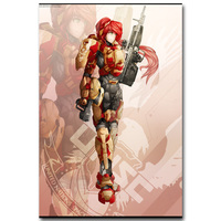 RWBY Hot Anime Girl Art Silk Fabric Poster Cartoon Picture for Bedroom Wall Decoration 13x20 24x36 inch 006