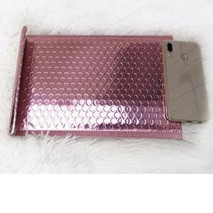 Image 3 - Oro rosa Bolla Avvolge, Metallic Rose Gold Bolla Foglio Mailer per Limballaggio del Regalo, Favore di Cerimonia Nuziale Del Sacchetto di Trasporto Libero