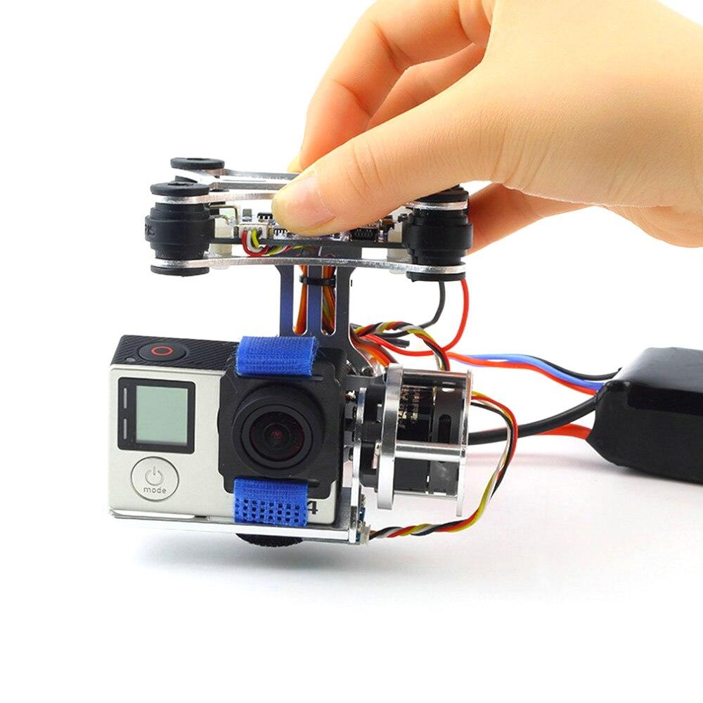1 ensemble Super Light BGC 3.0 cadre de caméra à cardan sans balai + 2 pièces moteurs + carte contrôleur 160G pour DJI Phantom pour Gopro 3 4