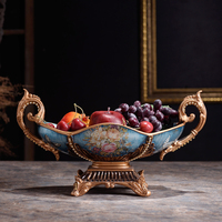 The living room coffee table Decor European fruit plate Home Furnishing fruit plate dry fruit villa model soft fruit
