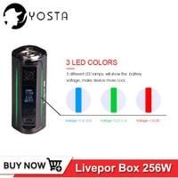 Original Yosta Livepor 256 Box mod 256W Device VW MECH TC Ni TC Ti TC SS PTC mode 18650 Vape Electronic Cigarette Mods