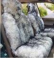 Especial favorable invierno genuino pura lana larga de piel cubierta de asiento de coche universal