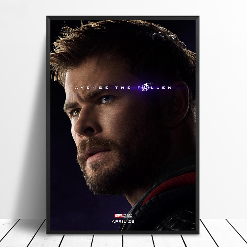Avengers:Endgame 2019 Character Poster Thor Avenge the Fallen poster Marvel comic movie quality print Avengers 4