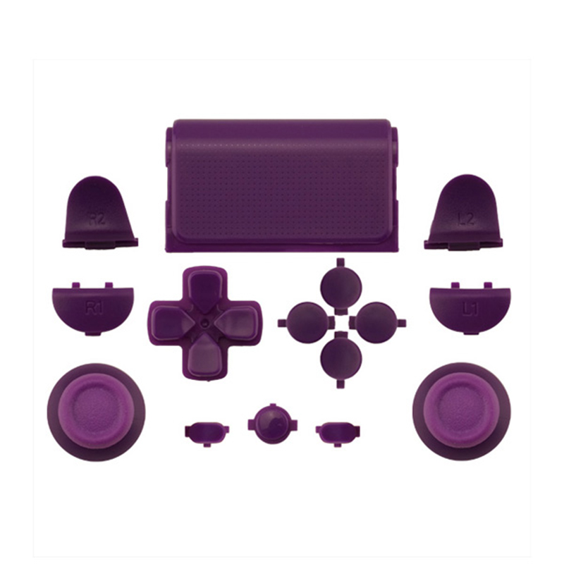 Melnās pilna komplekta rezerves daļu pogas PlayStation 4 PS4 - Spēles un aksesuāri - Foto 2