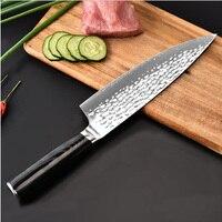 Новые 8 дюймов шеф повара ножи с высоким содержанием углерода VG10 японский 67 слой Дамасская сталь кухонные ножи из нержавеющей стали тесак но
