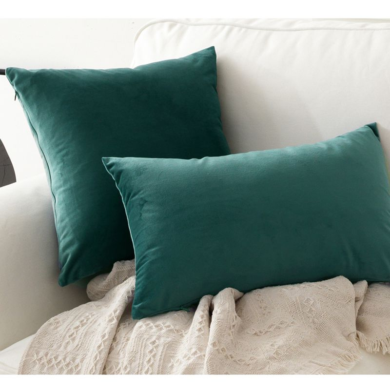 Cushion Cover Humorous 1pc Soft Emerald Green Velvet Pillow Case Cushion Cover Dark Green Pillow Cover No Balling-up Without Stuffing Funda Cojin Rich In Poetic And Pictorial Splendor Home & Garden
