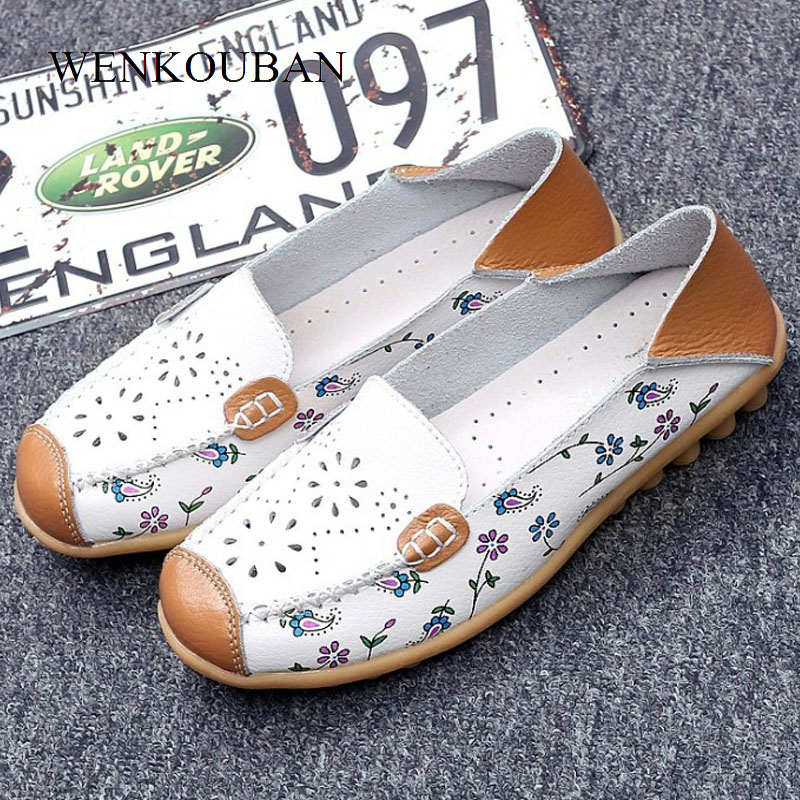 7ec2f379c50 Γυναικεία παπούτσια Genuine Leather Shoes Women Ballet Flats Loafers Summer  Moccasins Ladies Slip On Casual Flats Ballerina Flats Zapatos Mujer 2019