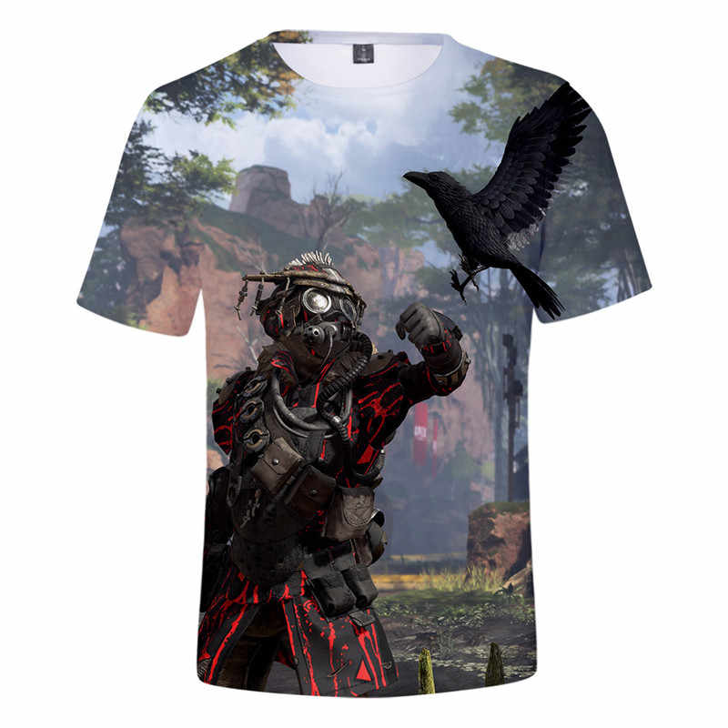3D Printing Men's Short-sleeved Round Neck T-shirt 2019 Summer New Apex Legends Men's Casual Shirt Men's Casual T-shirt