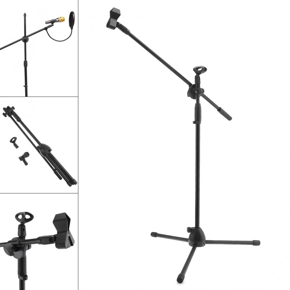 Practical Professional Swing Boom Floor Metal Stand / Microphone Holder / Microphone Stand Ajustable Stage Tripod