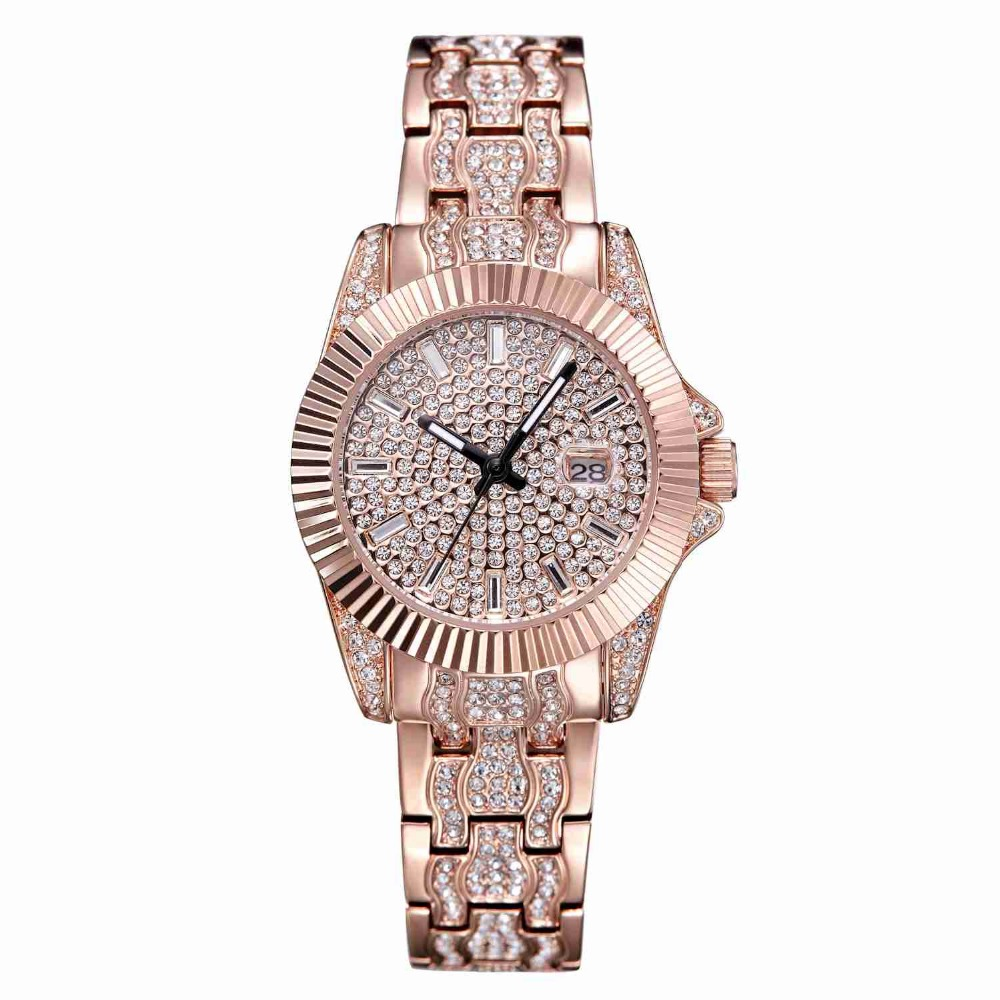 MATISSE Lady Full Crystal Dial & Strap With Calendar Sun Bezel Fashion Quartz Watch matisse dance with joy