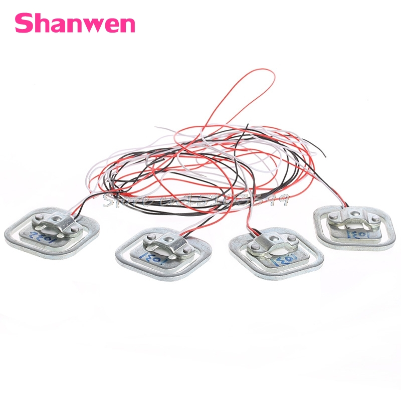 4Pcs 50Kg Human Body Scale Weighing Sensor Resistance Strain Half-Bridge G08 Drop ship keyes 5kg resistance strain weighing pressure sensor silver