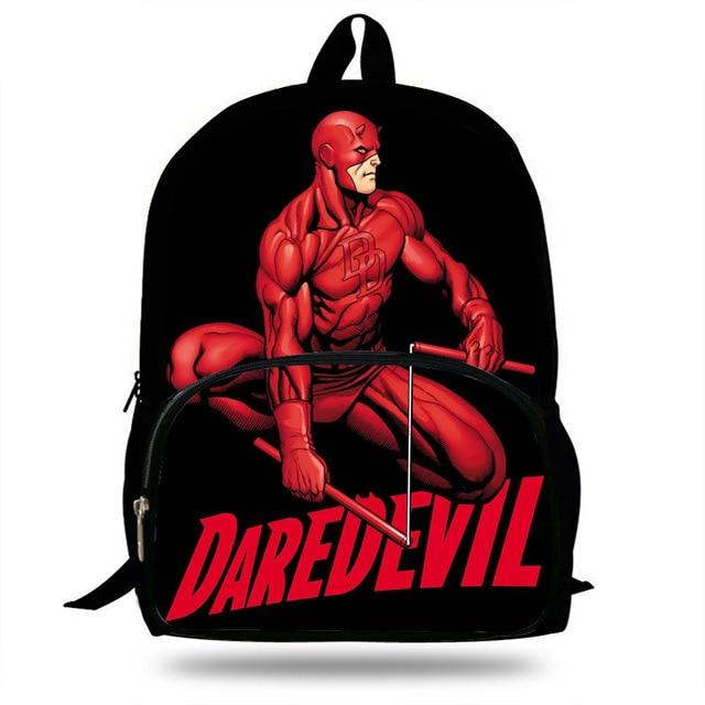 8579d1874c 16inch Super Hero Bag For Children School Daredevil Backpack For Kids Boys  Girls Teenagers