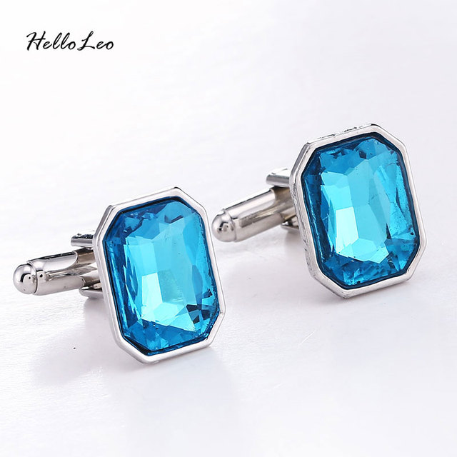 4 Colors Trendy High Crystal Cuffinks Luxury Elegant French Cuffink Button