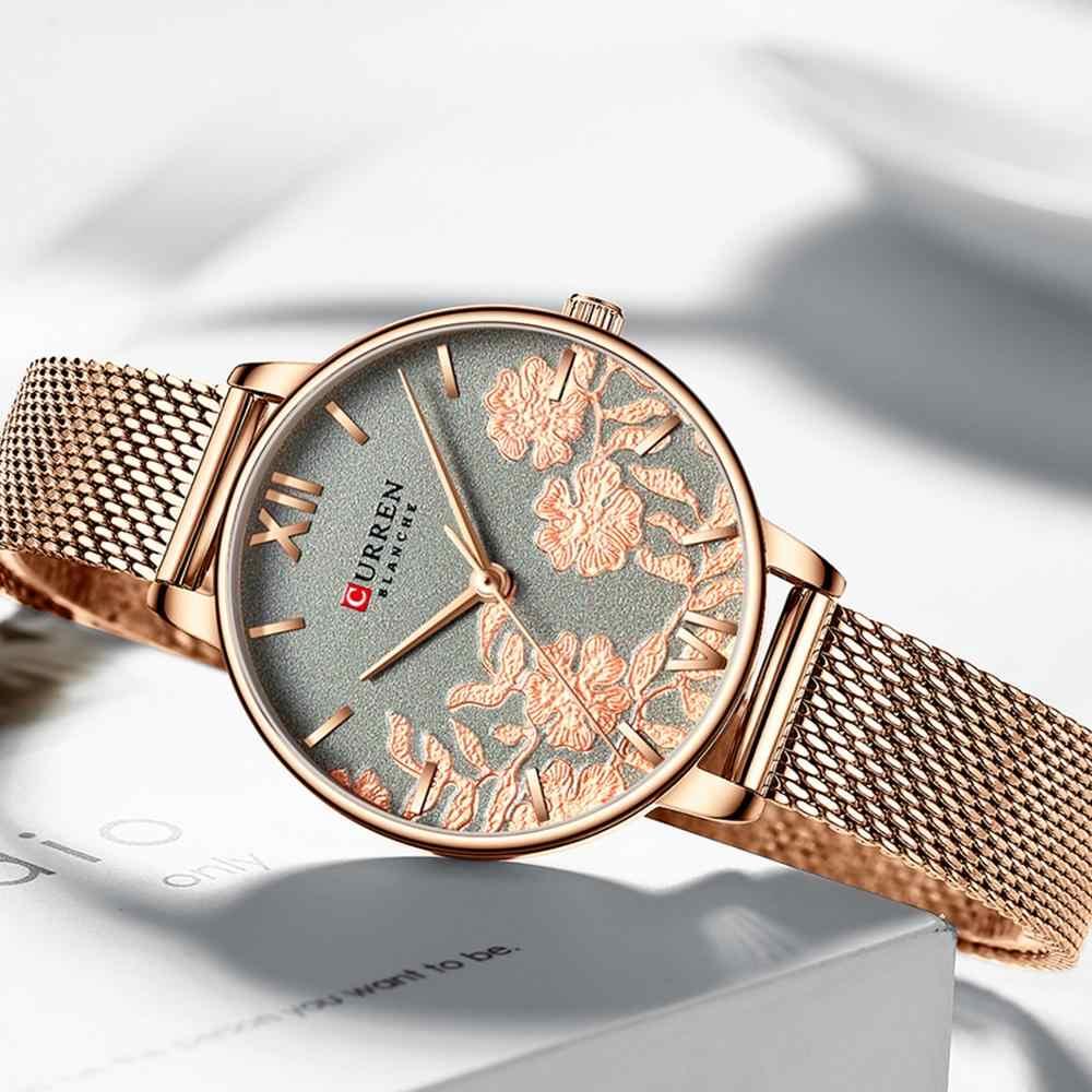 CURREN женские часы лучший бренд класса люкс из нержавеющей стали ремешок наручные часы для женщин розовые часы Стильные кварцевые женские часы