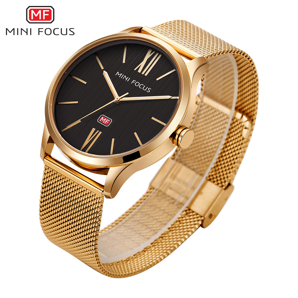MINIFOCUS Ultra Thin Men Quartz Watches Stainless Steel Mesh Luxury Mens Watch Dress Business Relogio Masculino Male Clock 1pc lot cute rabbit design memo pad office accessories memos sticky notes school stationery post it supplies tt 2766
