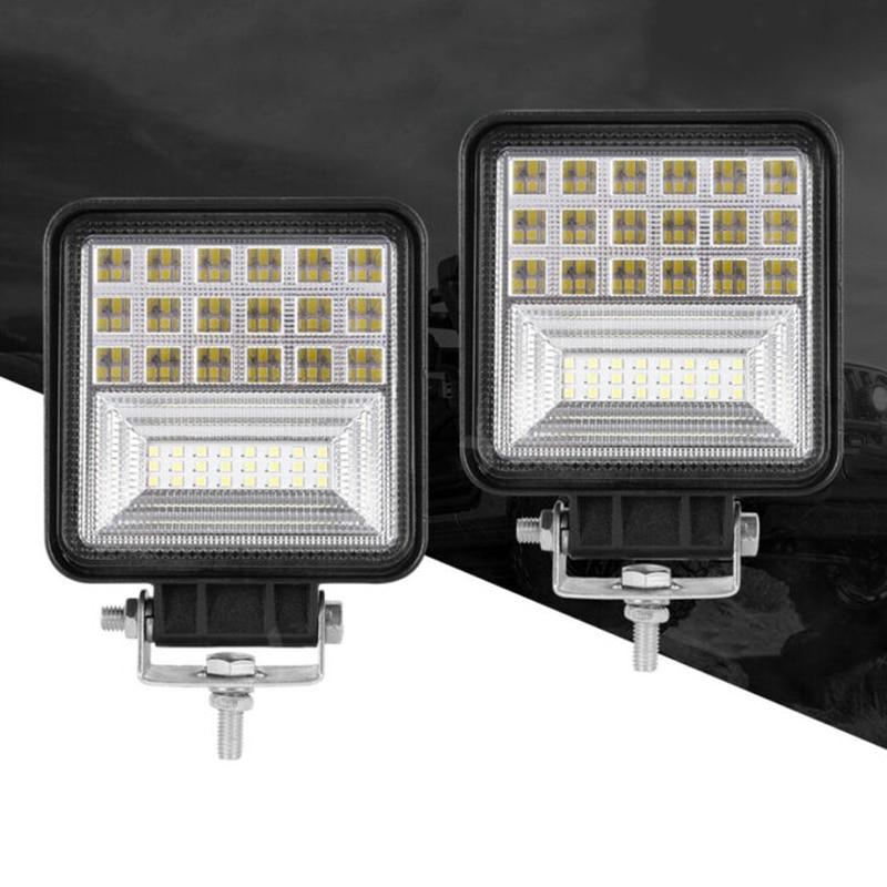 2pcs 48W LED Work Light Bar Flood Off-road Car Truck Boat Driving Fog Lamps