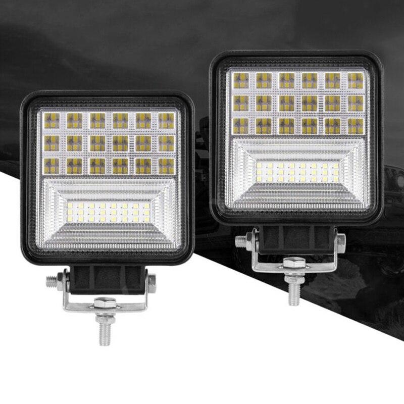 2pcs 9V-30V 48W Car Off-Road SUV LED Work Light Bar Driving Fog Lamp Spotlight 40000LM 6000K Truck Boat Forklift Work Light