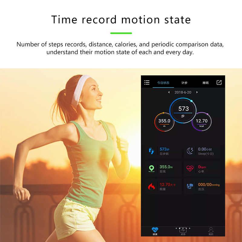 سوار ذكي Y5 جهاز تتبع معدل ضربات القلب لأغراض اللياقة البدنية الرجال النساء الرياضة ووتش ضغط الدم ووتش اللون شاشة النشاط تعقب المعصم الفرقة