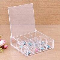New Fashion 12 Grid Makeup Organizer Cosmetic Acrylic Clear Case Display Box Jewelry Storage Holder
