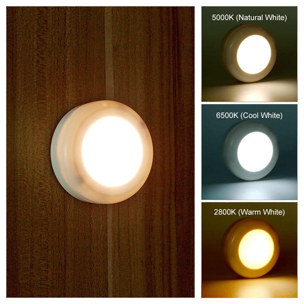 ANBLUB nuevo Sensor táctil regulable inalámbrico gabinetes LED luces Control remoto lámpara de noche para armario escalera pasillo luces de noche